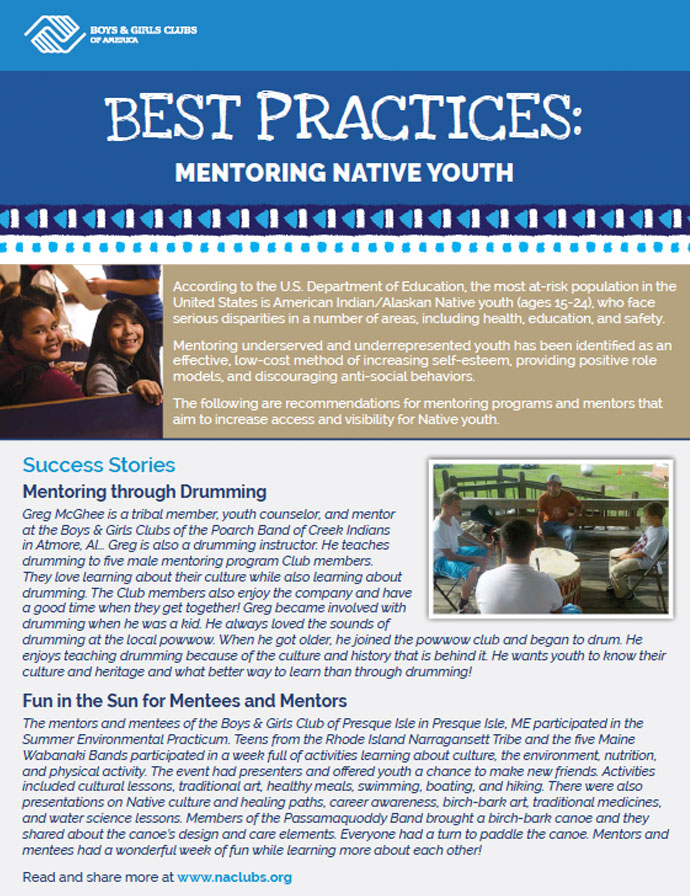 BGCA Best Practices: Mentoring Native Youth