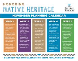 Native Heritage Planning Calendar
